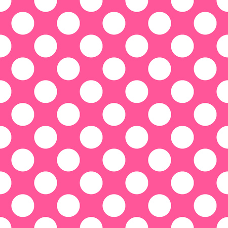 repetition dotted row: Polka dot pink pattern illustration