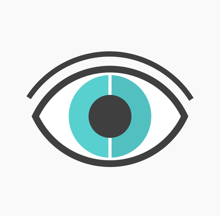 blue eye: Abstract blue eye illustration Illustration