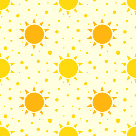 suns: Suns seamless pattern. Vector illustration