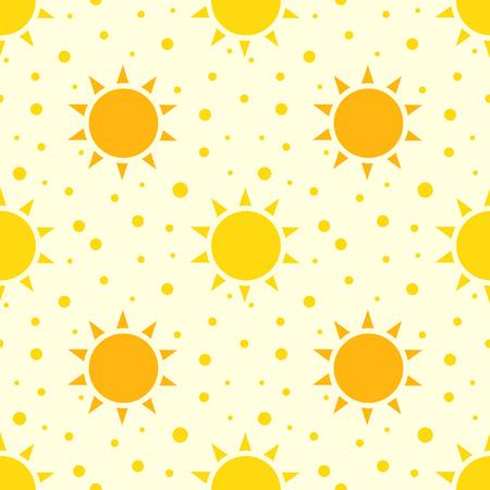 suns: Suns seamless pattern. Vector illustration