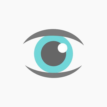 blue eye: Blue eye icon vector illustration Illustration