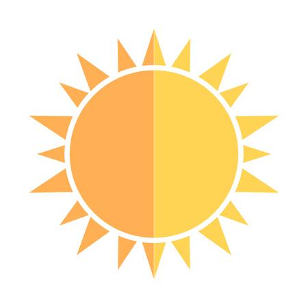 half: Sun icon. Vector illustration Illustration