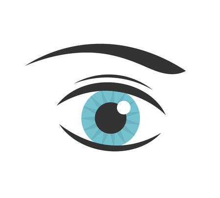 blue eye: Blue woman eye icon. Vector illustration