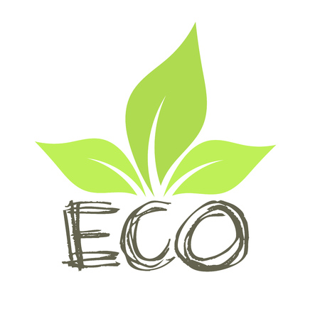 harmony nature: Eco leaf symbol. Vector illustration