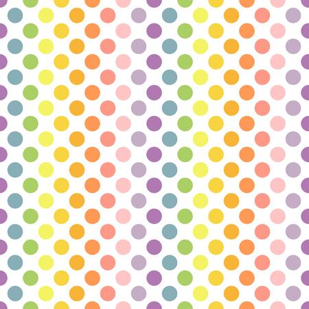 polka dots background: Polka dot colors background. Vector illustration