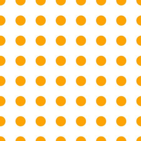light circular: Polka dot orange pattern. Vector illustration