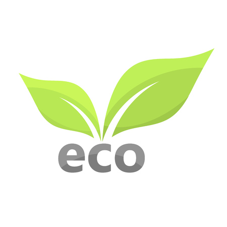 harmony nature: Eco leaves icon. Vector illustration Illustration