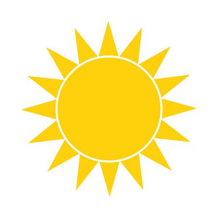 Simple sun icon. Vector illustration