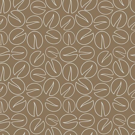 background coffee: Coffee beans seamless pattern background. Vector illustration