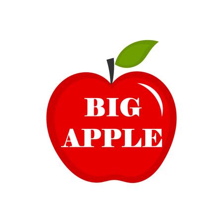 Big apple. Vector illustration
