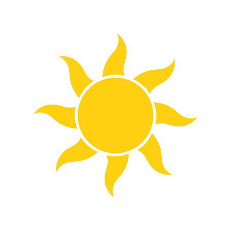 Simple sun icon vector illustration