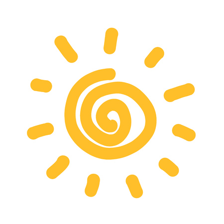 swirl: Swirl sun. Vector illustration Illustration
