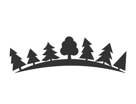 christmas tree illustration: Trees in forest. Vector illustration Illustration