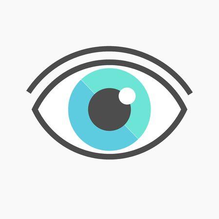 blue eye: Blue eye symbol icon. Vector illustration