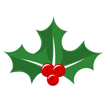 berry: Christmas Holly berry. Vector illustration Illustration