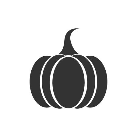 fruit stalk: Pumpkin icon. Vector illustration