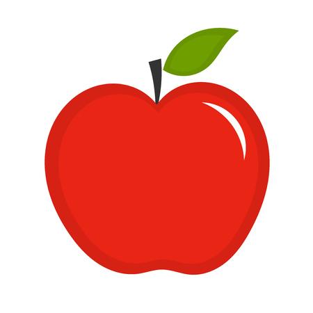 Red apple. Vector illustration Illustration
