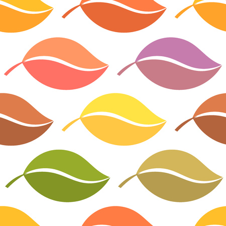 autumn colors: Colors of autumn leaves. Seamless vector pattern