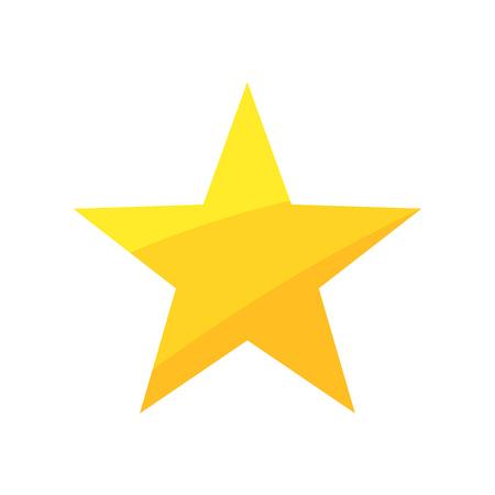 insignias: Estrella de oro. ilustración vectorial Vectores