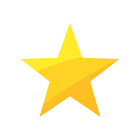 Gold star. Vector illustration 矢量图像