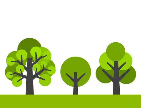 trees illustration: Trees. Vector illustration Illustration