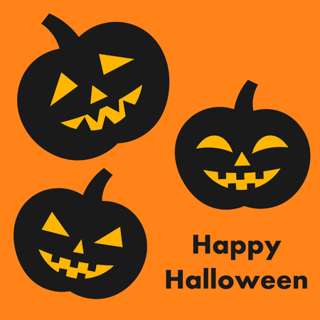 giggle: Halloween pumpkins card. Vector illustration Illustration