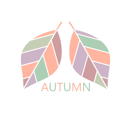 harmony nature: Autumn leaves. Vector illustration Illustration