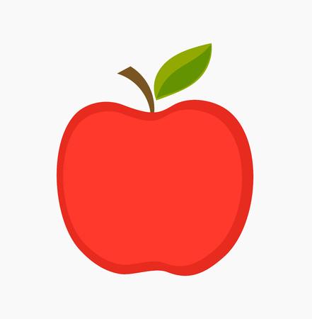 summer diet: Red apple illustration