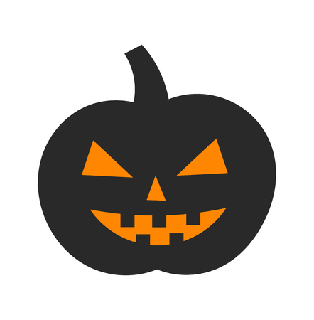 fruit stem: Halloween pumpkin. Vector illustration Illustration