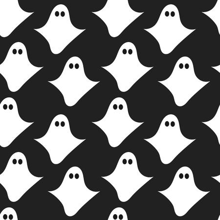 fear: Ghost seamless pattern. Vector illustration