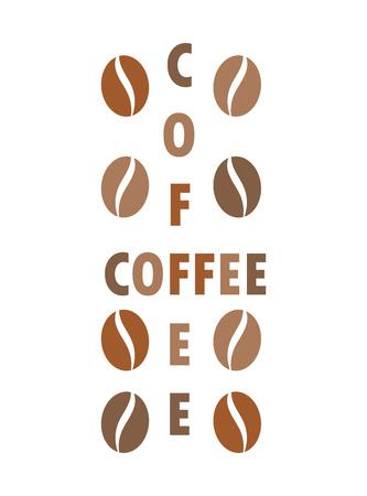 cross bar: Coffee beans concept. Vector illustration Illustration
