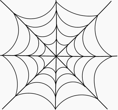 arachnid: Spider web. Vector illustration Illustration
