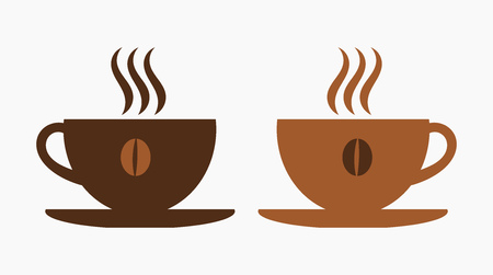 coffee cups: Two coffee cups. Vector illustration