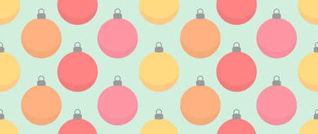Christmas baubles seamless pattern. Vector illustration Illustration