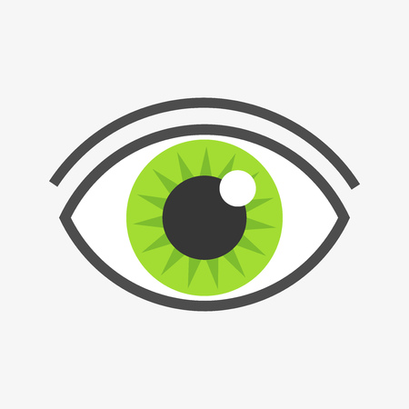 green eye: Green eye symbol. Vector illustration Illustration