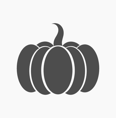 Pumpkin icon. Vector graphic design