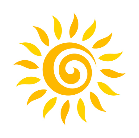 swirl: Swirl sun icon. Vector illustration
