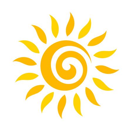 icono del sol del remolino. ilustración vectorial