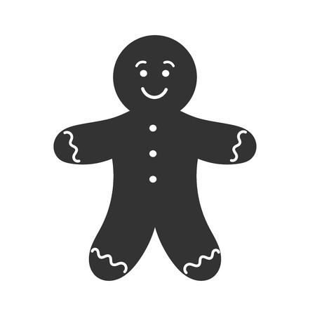 gingerbread man: Gingerbread man icon. Vector illustration