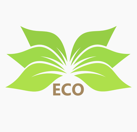 harmony nature: Green leaf eco icon or symbol. Vector illustration Illustration