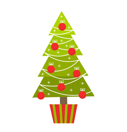 christmas tree illustration: Christmas tree. Vector illustration