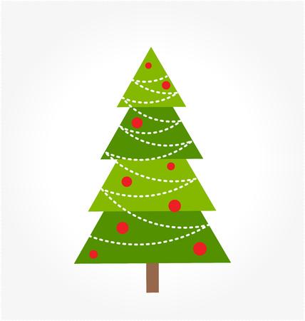 christmas tree illustration: Christmas tree illustration