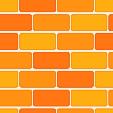 Brick wall seamless tile pattern illustration Illustration