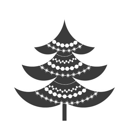 tree symbol: Christmas tree symbol icon. Vector illustration Illustration