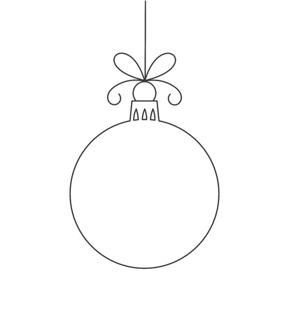 Christmas bauble line shape.