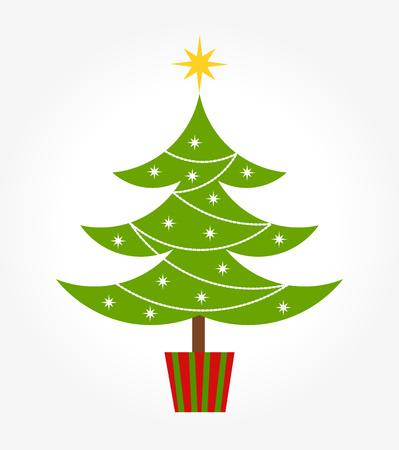 original single: Cute decorated Christmas tree.