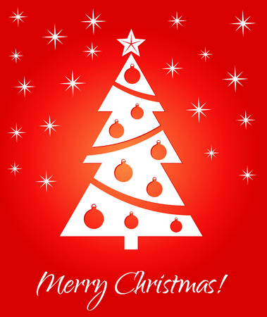 christmas greeting card: Christmas red greeting card.