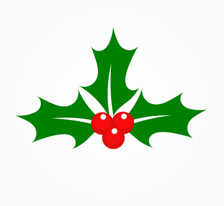 christmas plant: Holly berry Christmas plant symbol