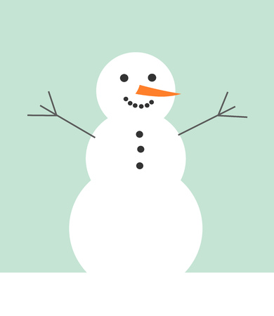 winter season: Snowman. Winter season illustration Illustration
