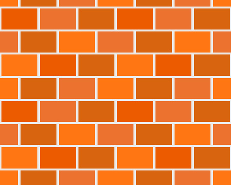 Brick wall flat seamless pattern. Vector illustration Illustration